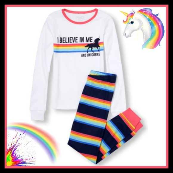4996e035 Children's Place Pajamas   Unicorns Rainbows Long Sleeve Pjs   Poshmark